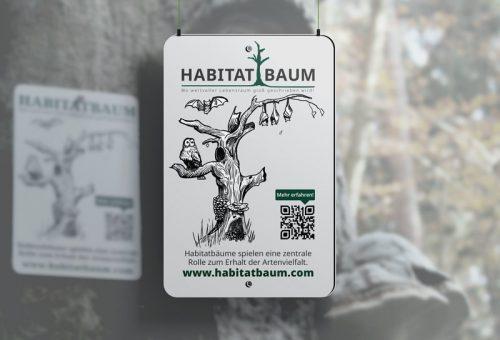Schild Habitatbaum